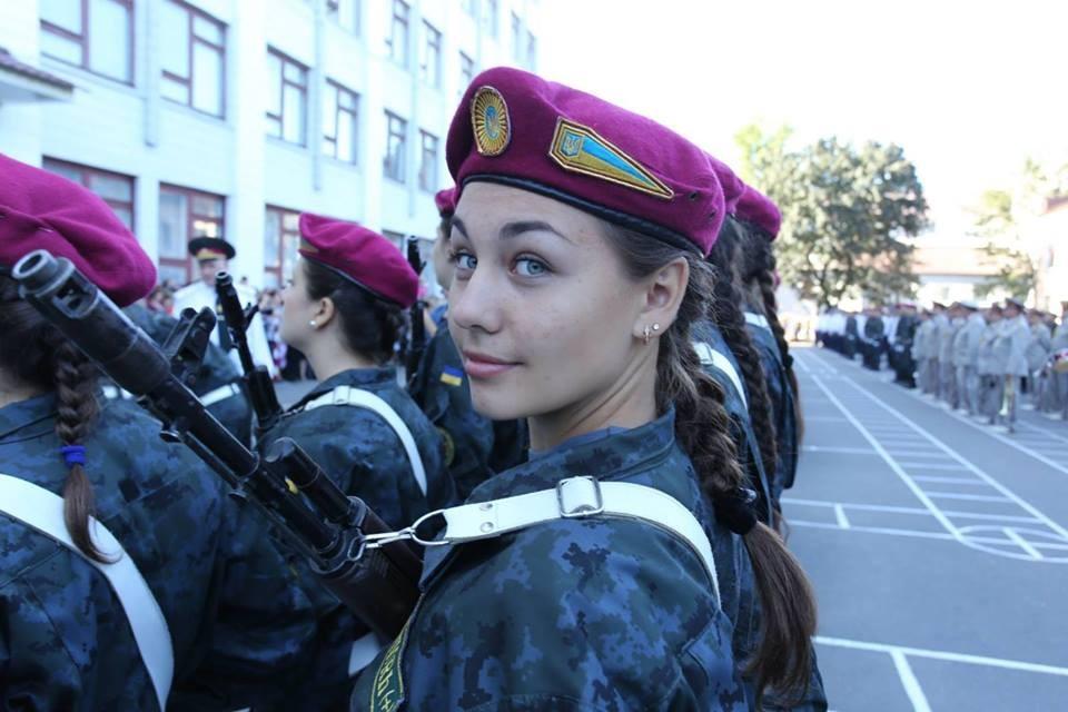 Женские лица Нацгвардии Украины